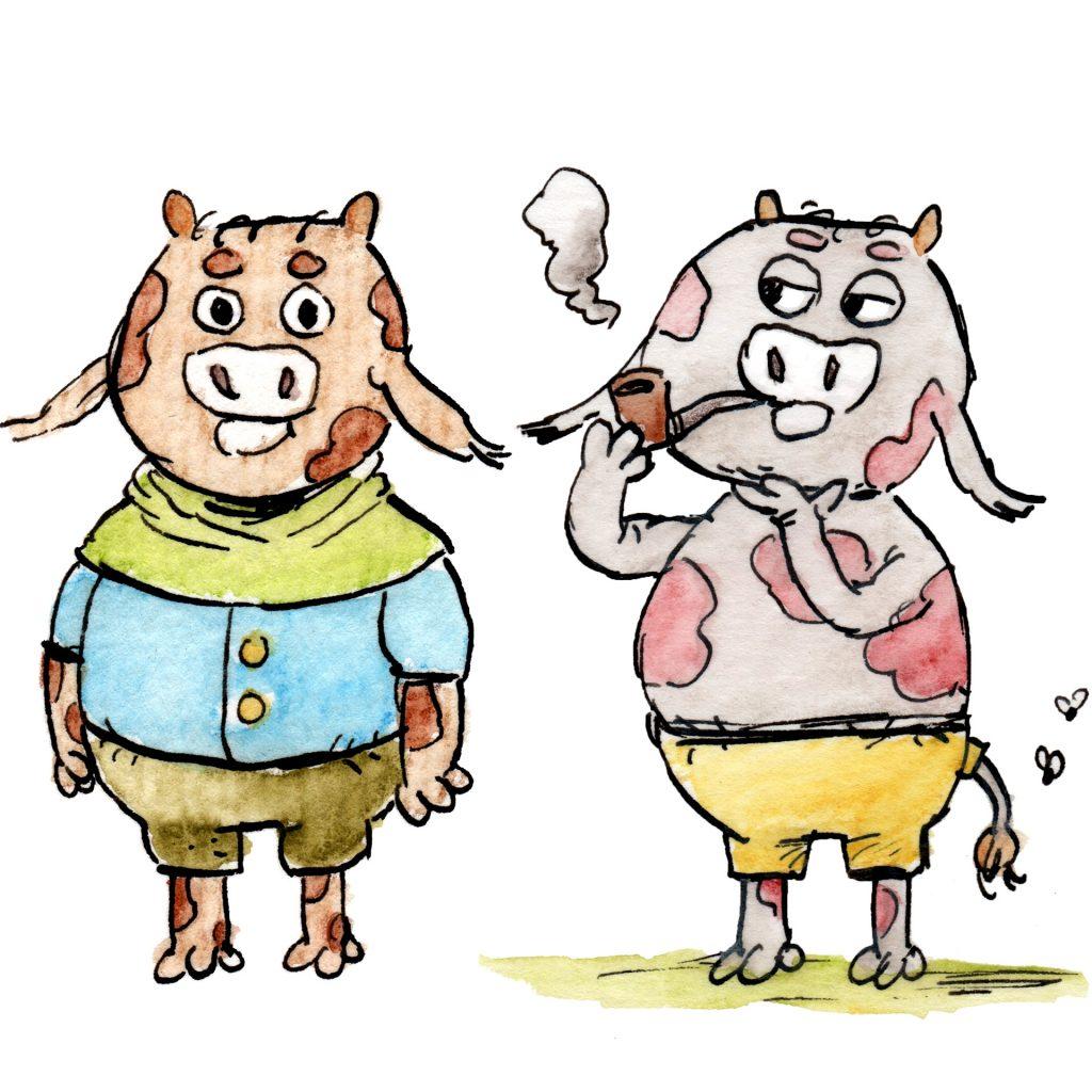 'Cow People—Big Busy Kingdom' by Louis Decrevel