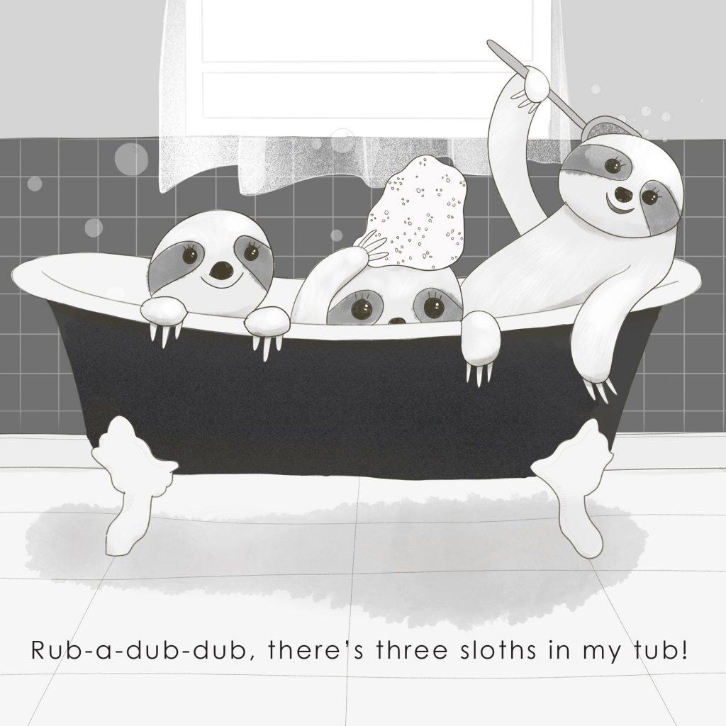 'Three sloths' by Amie Sabadin