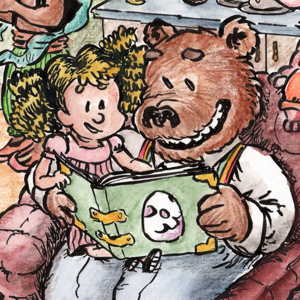 'Goldilocks & Daddy Bear' by Louis Decrevel