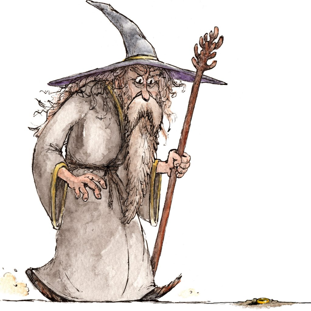 'Gandalf & the One Ring' by Louis Decrevel