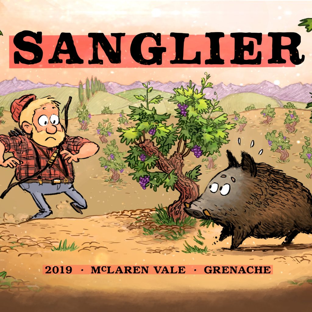 'Sanglier—Wine Label' by Louis Decrevel