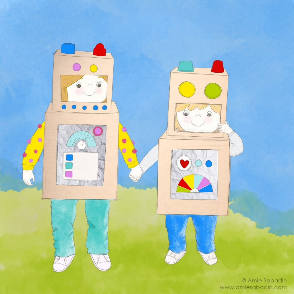 'Robot box kids' by Amie Sabadin