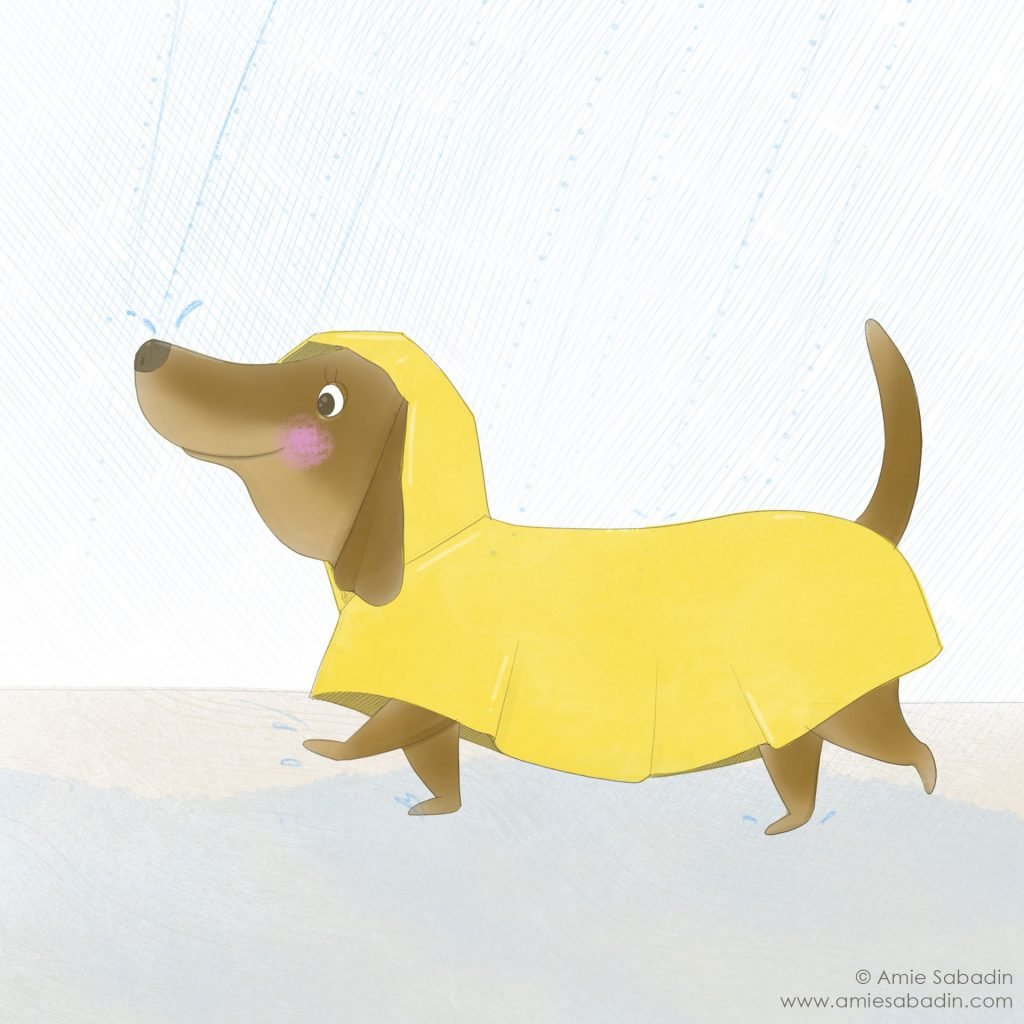 'Sausage in the Rain' by Amie Sabadin