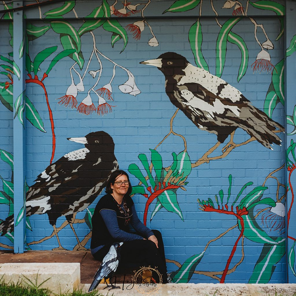 'Magpie Mural' by Alicia Rogerson