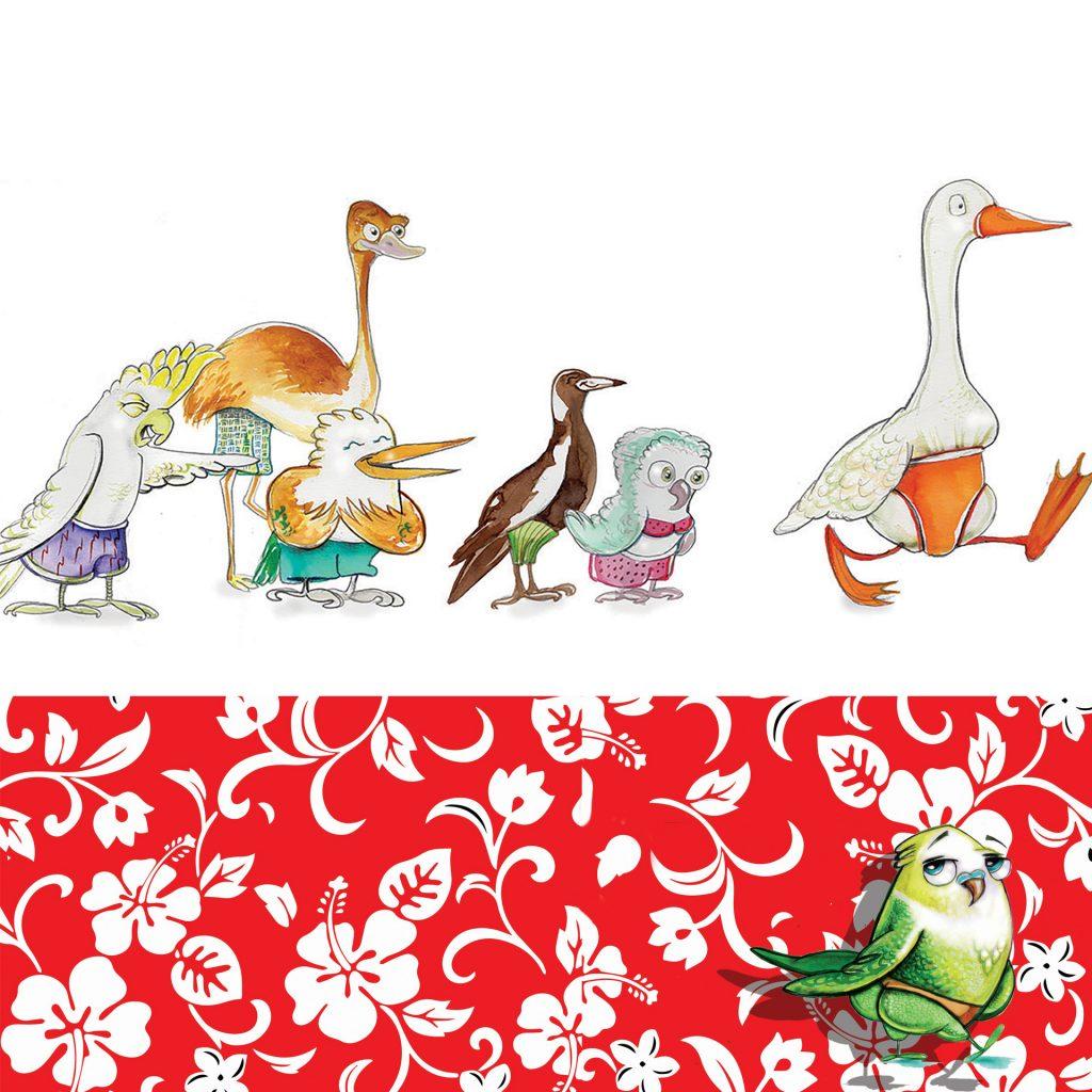 'Aussie Birds' by Dale Baker