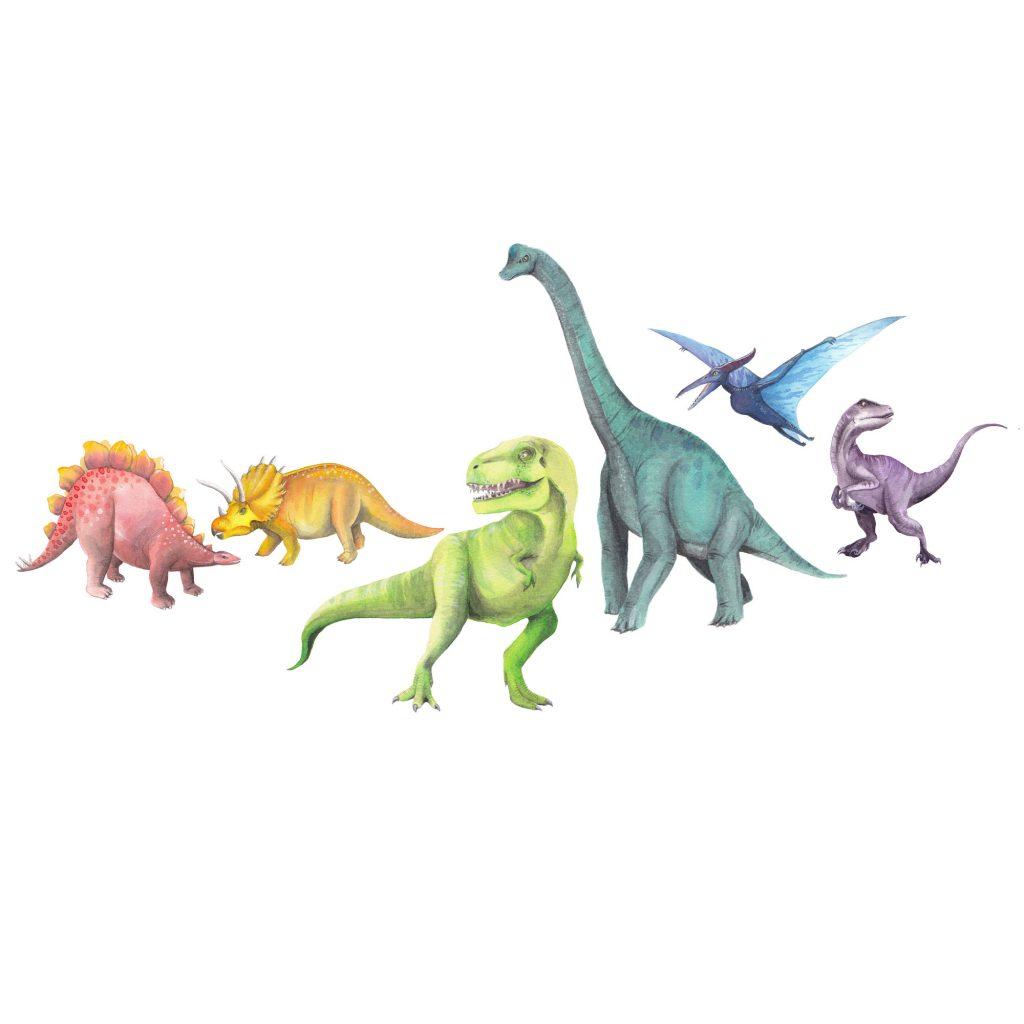 'Dinosaur Rainbow' by Susannah Crispe