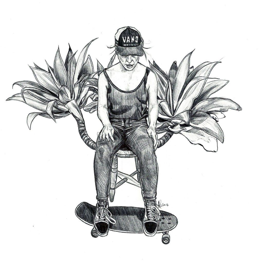 'A skater in still life (Jules)' by Amy Gardner