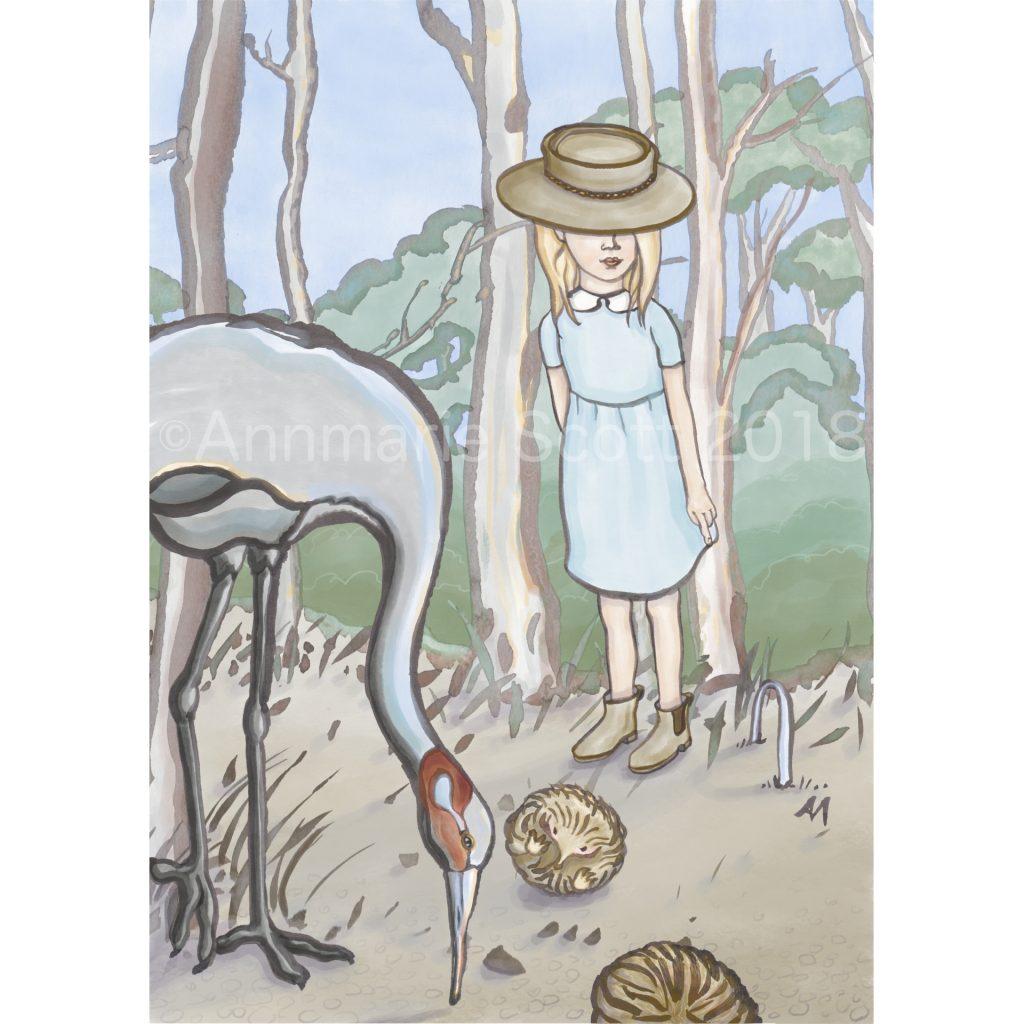 'Bush Croquet with Alice' by Annmarie Scott