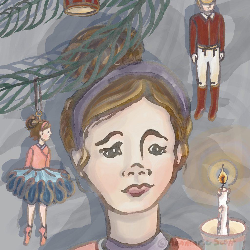 'Clara under the tree' - Nutcracker ballet by Annmarie Scott