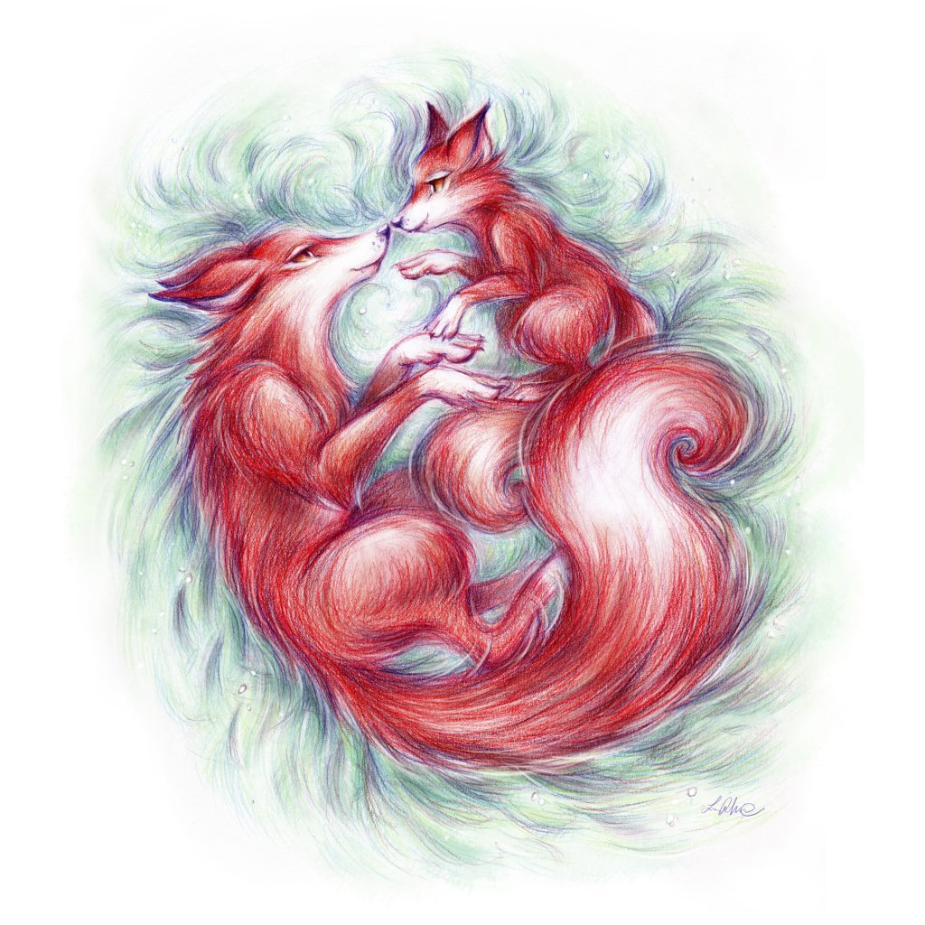 'Fox and Cub' by Lucie Mammone