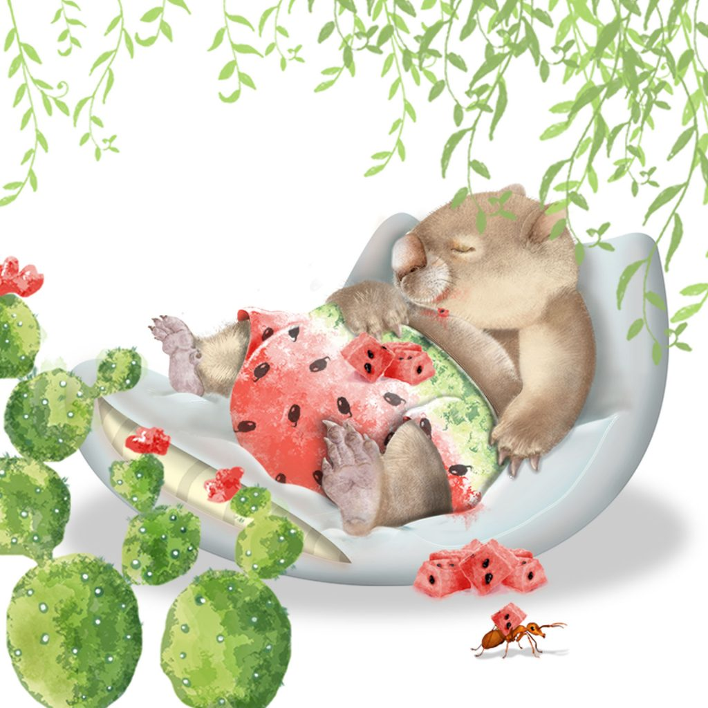 Wally Wombat by Nandina Vines