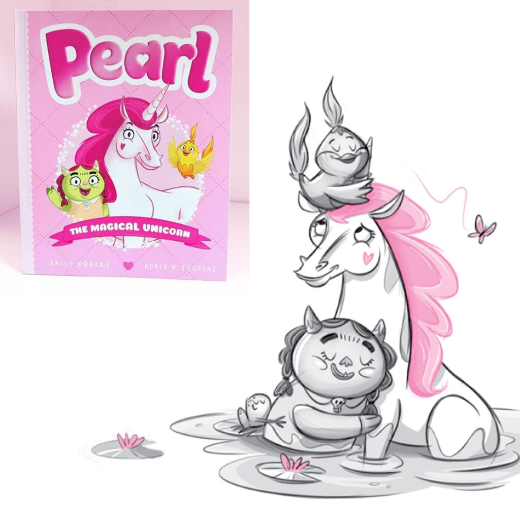 'Pearl The Magical Unicorn' illustrated by Adele K Thomas