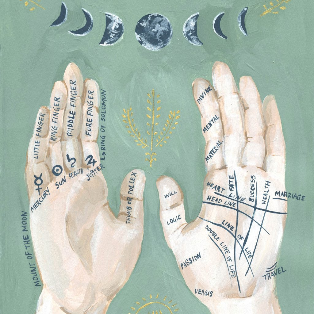 'Palmistry Illustration' by Alicia Rogerson