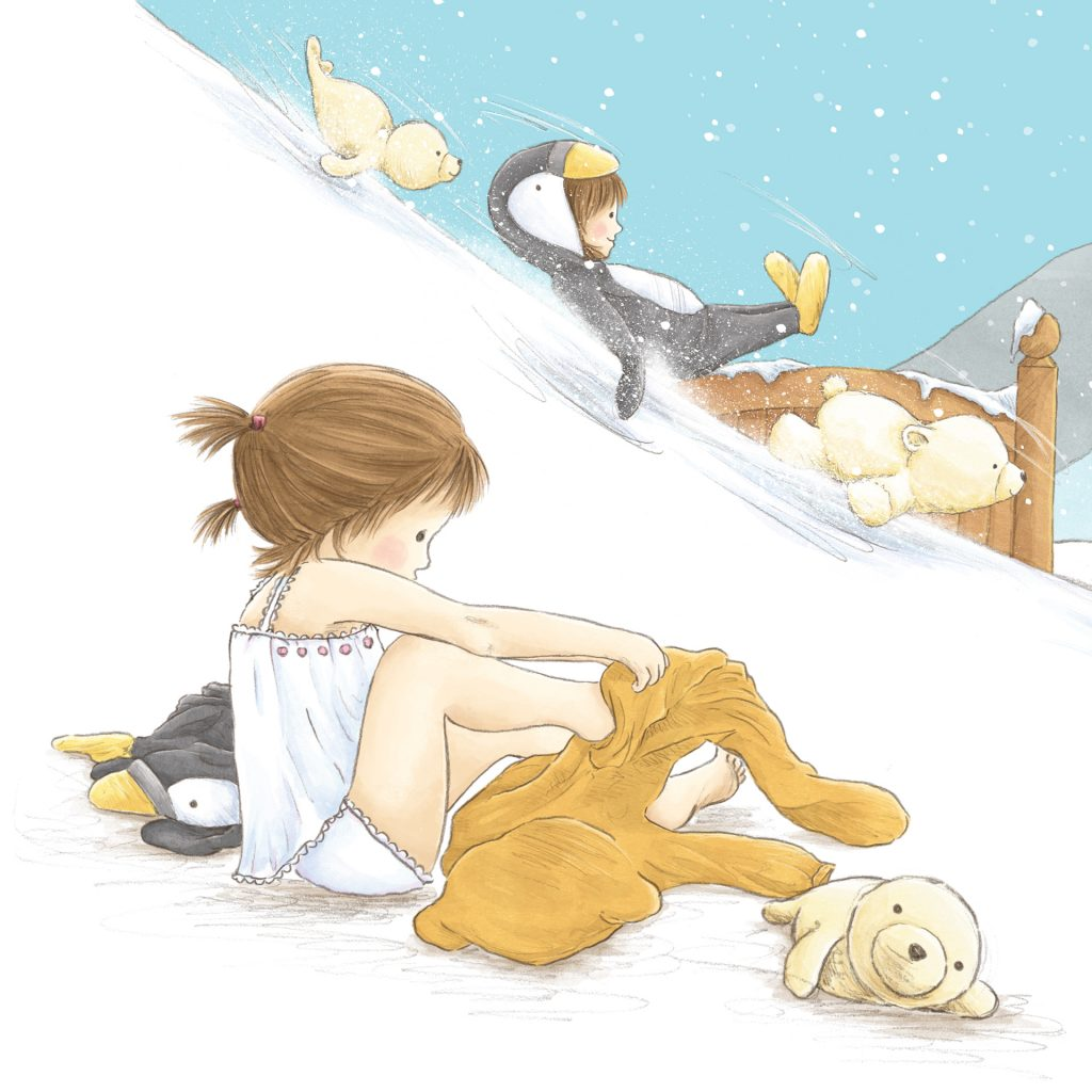 Bedtime for Penguins, but Not for Bears, from 'Onesie Mumsie', illustrated by Amanda Francey