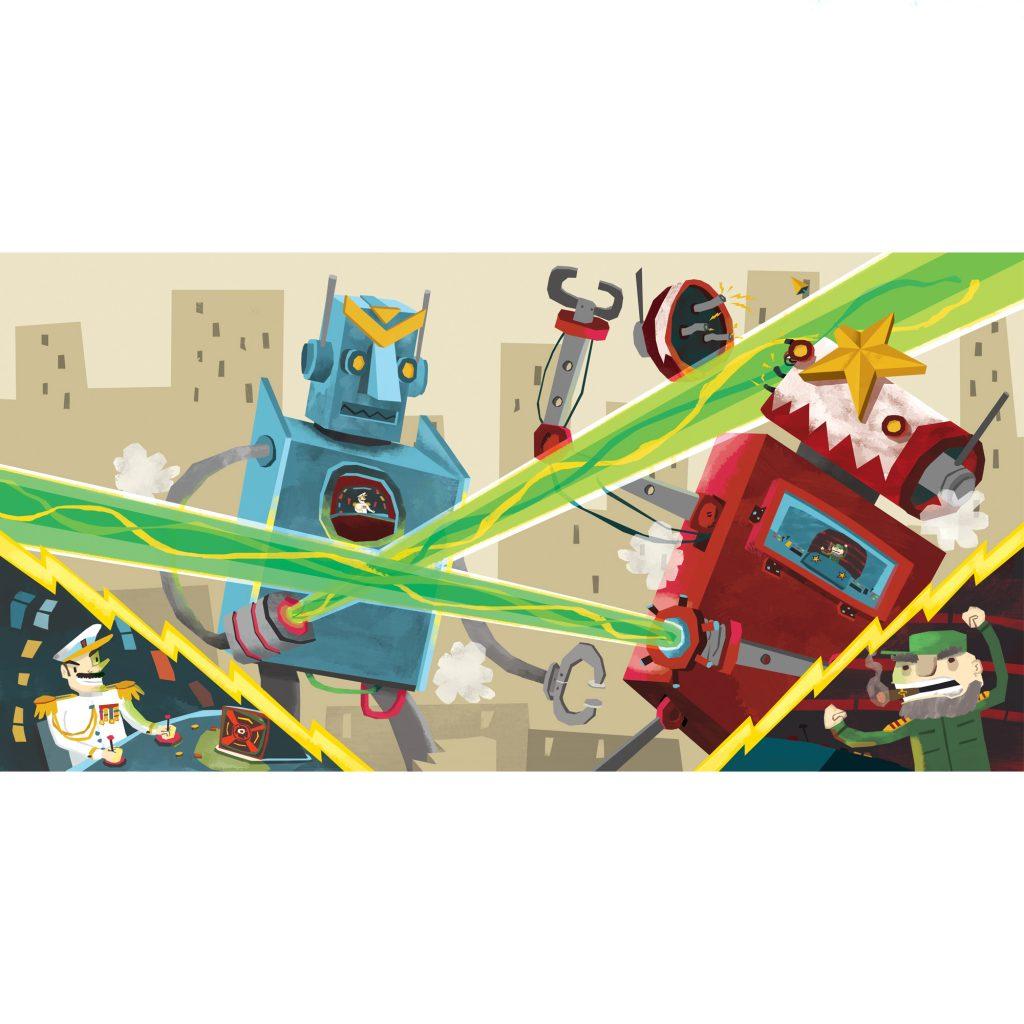 'Big Fighting Robots' by Arthur Hamer