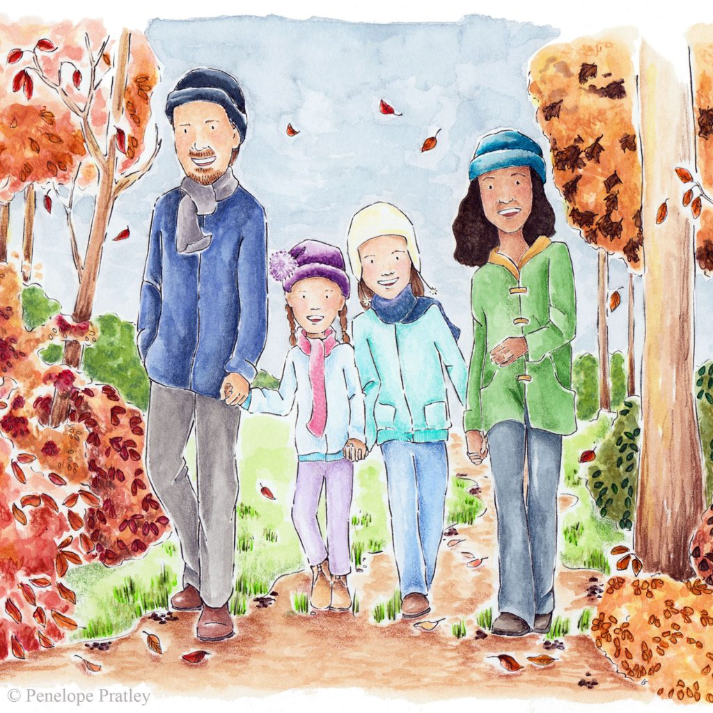 'Autumn Walk' by Penelope Pratley