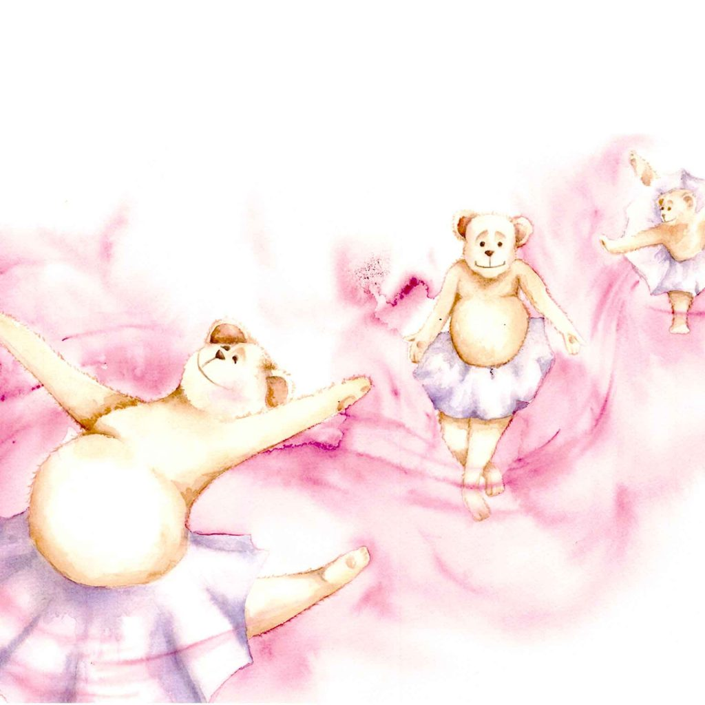 'Dancing Teddies' by Belinda Elliott
