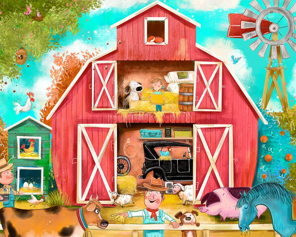 'Bush Farm Yard' by Brett Curzon