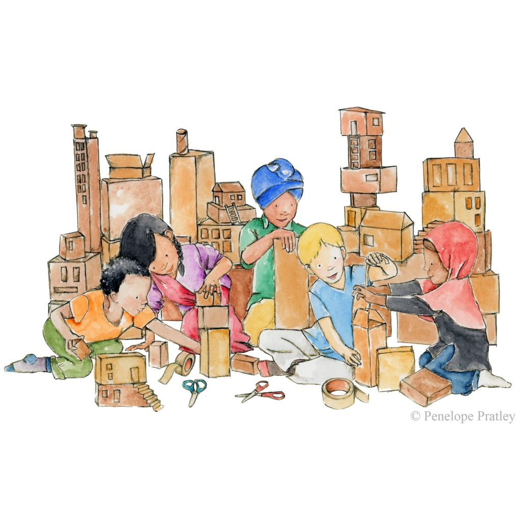'Building together' by Penelope Pratley