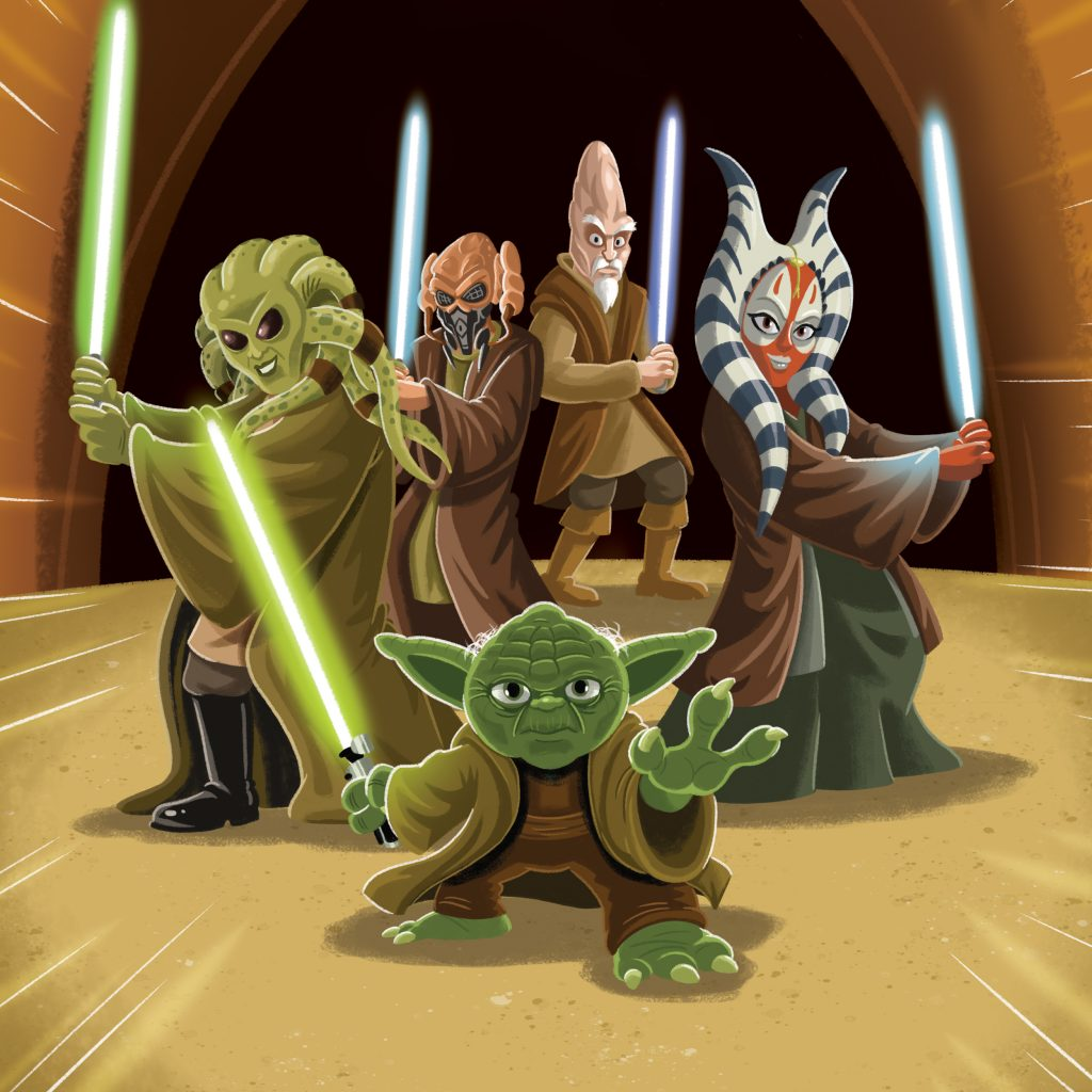 Star Wars - Jedis (Aliens, Creatures and Beasts) illustrated by Chris Kennett