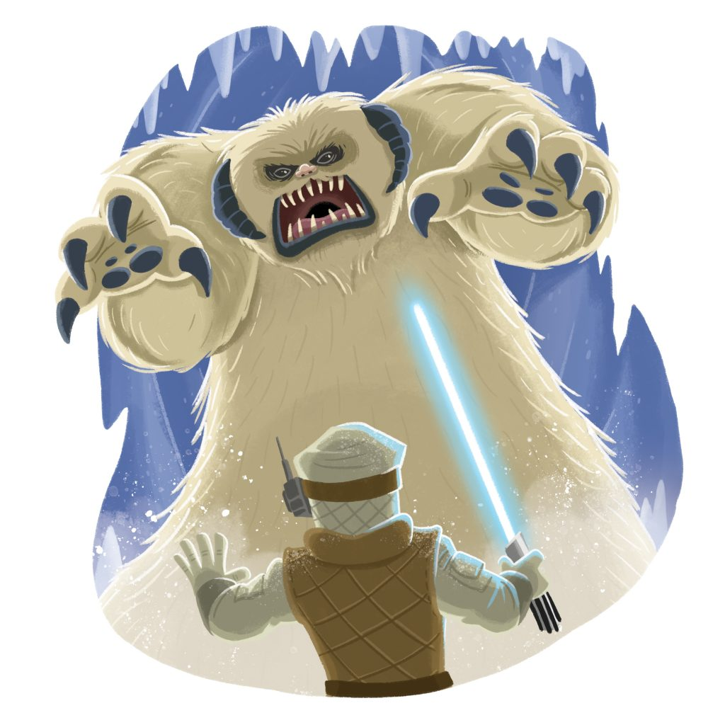 Star Wars - Wampa (Aliens, Creatures and Beasts) illustrated by Chris Kennett