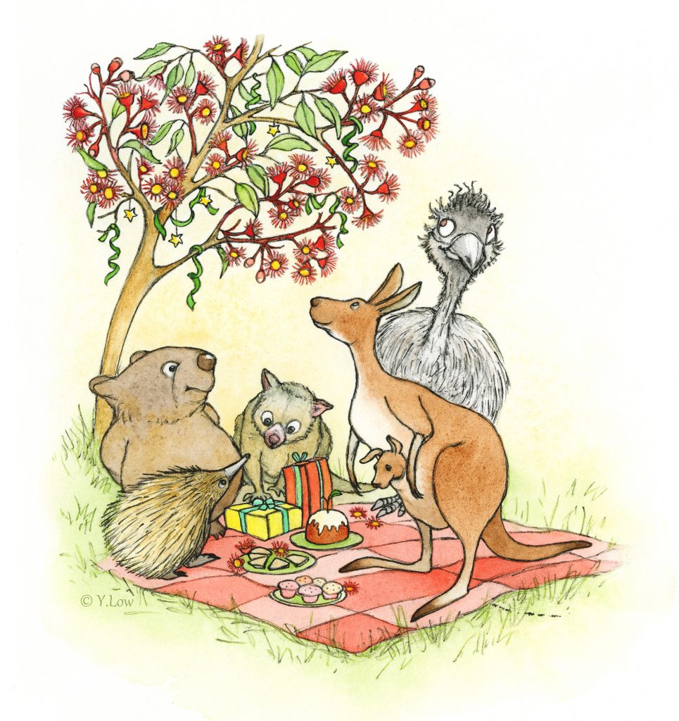 'Clever Wombat Christmas Party' by Yvonne Low