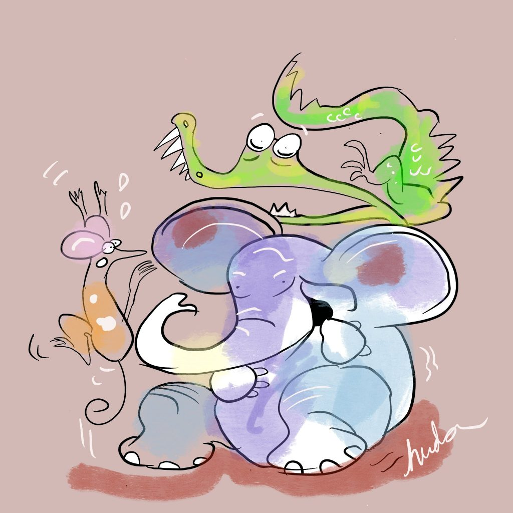 'Croc, Elephant and Mouse' by Bronwyn Hudson