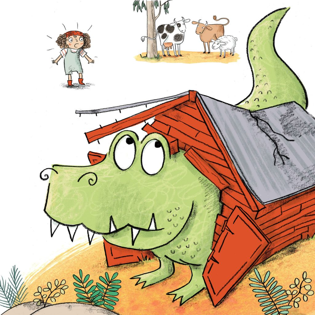 'Dogasaurus (Rex just grew and grew...)' by Lucinda Gifford