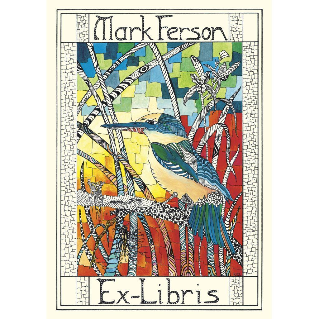 'Dr Mark Ferson, Ex-Libris' by Kathryn Elisabeth Lovejoy