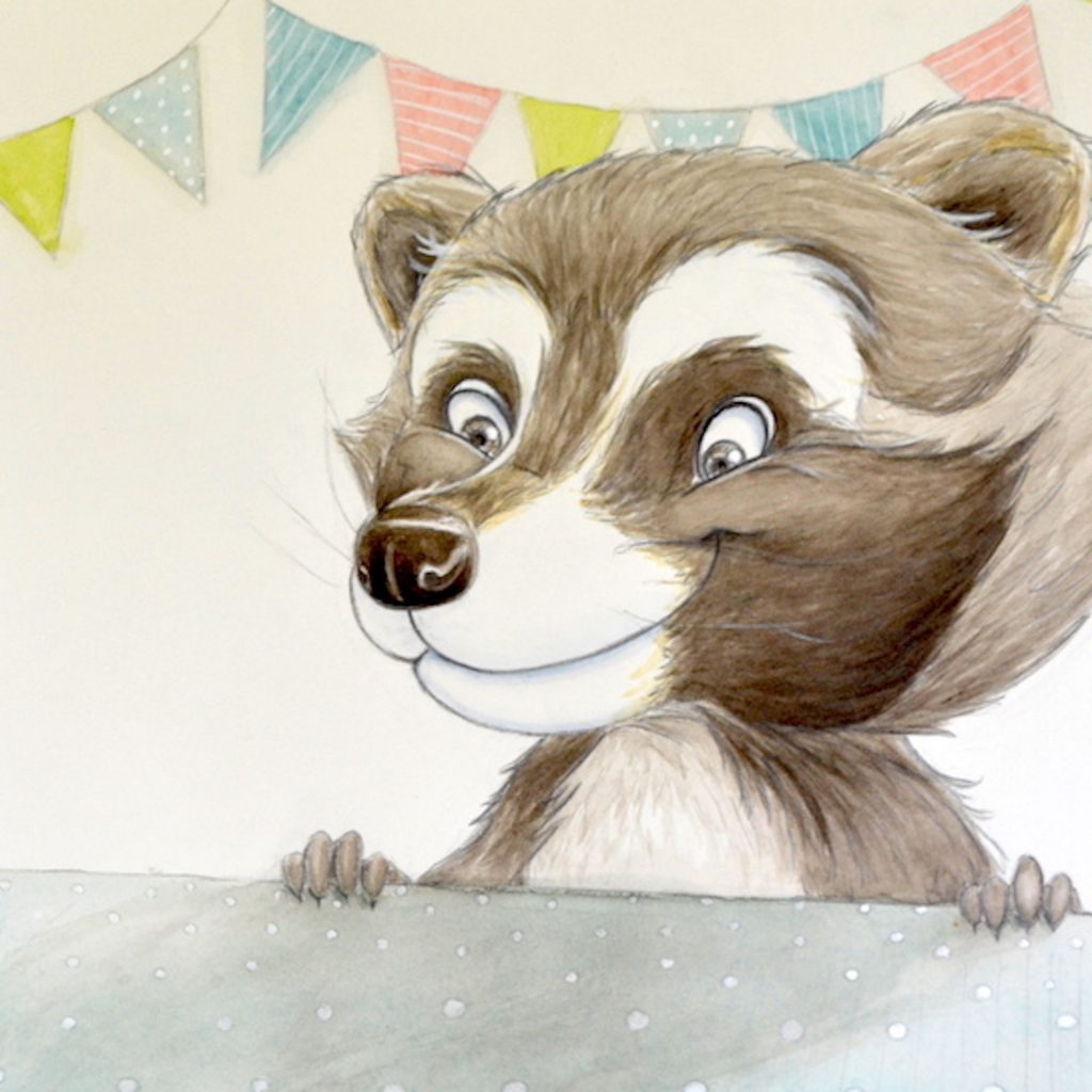 'Cheeky Raccoon' by Emma Middleton