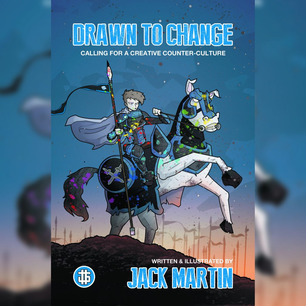 'Drawn To Change' Book Cover - Written & Illustrated by Jack Martin
