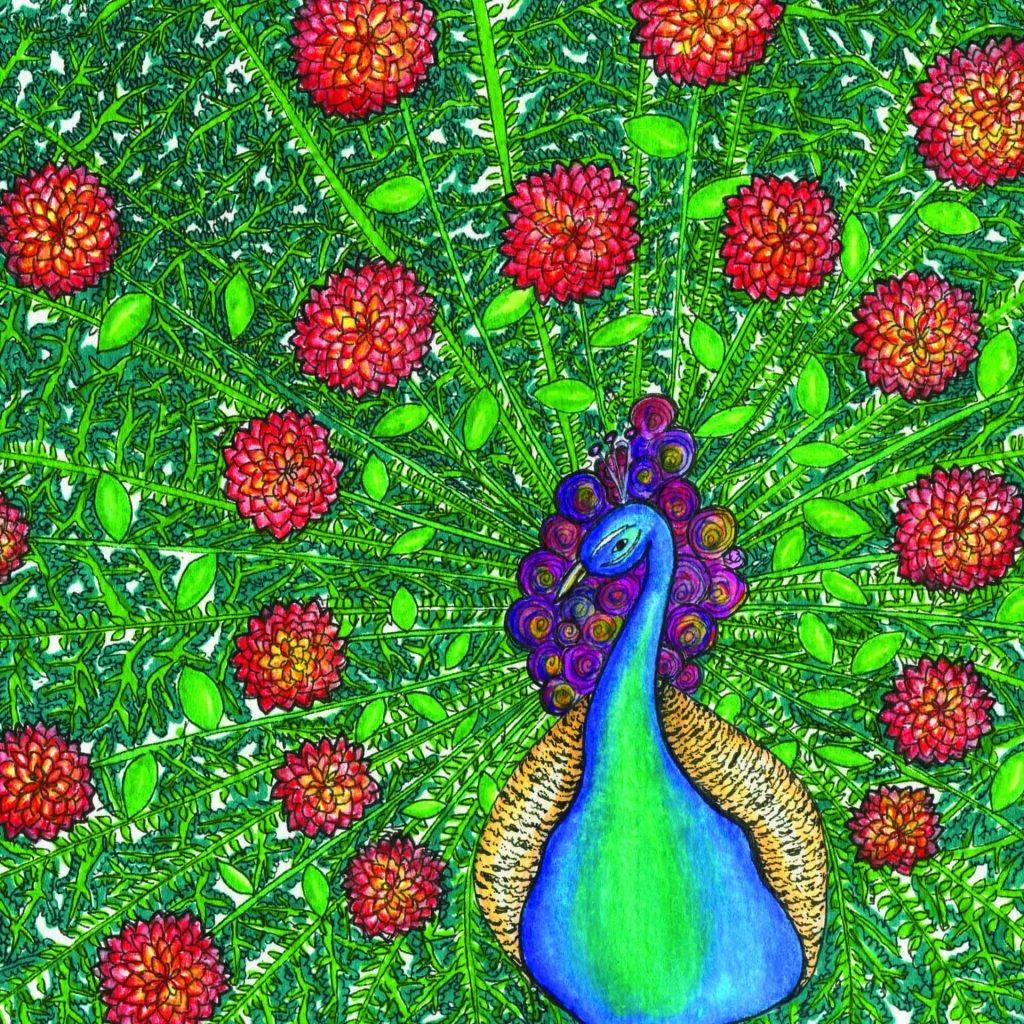'Floral Peacock' by Cecilia Cabalquinto