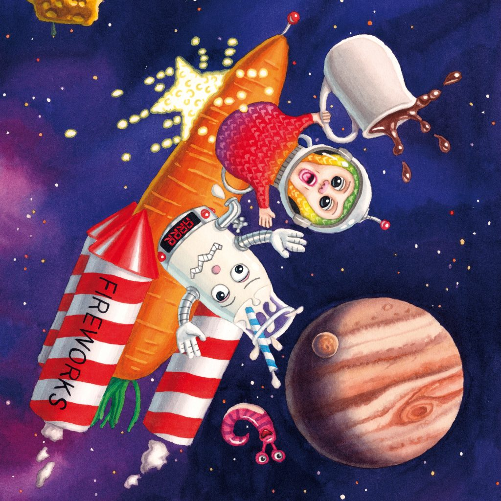 'The Stroogle in Space internal illustration 2012' by Cameron Stelzer