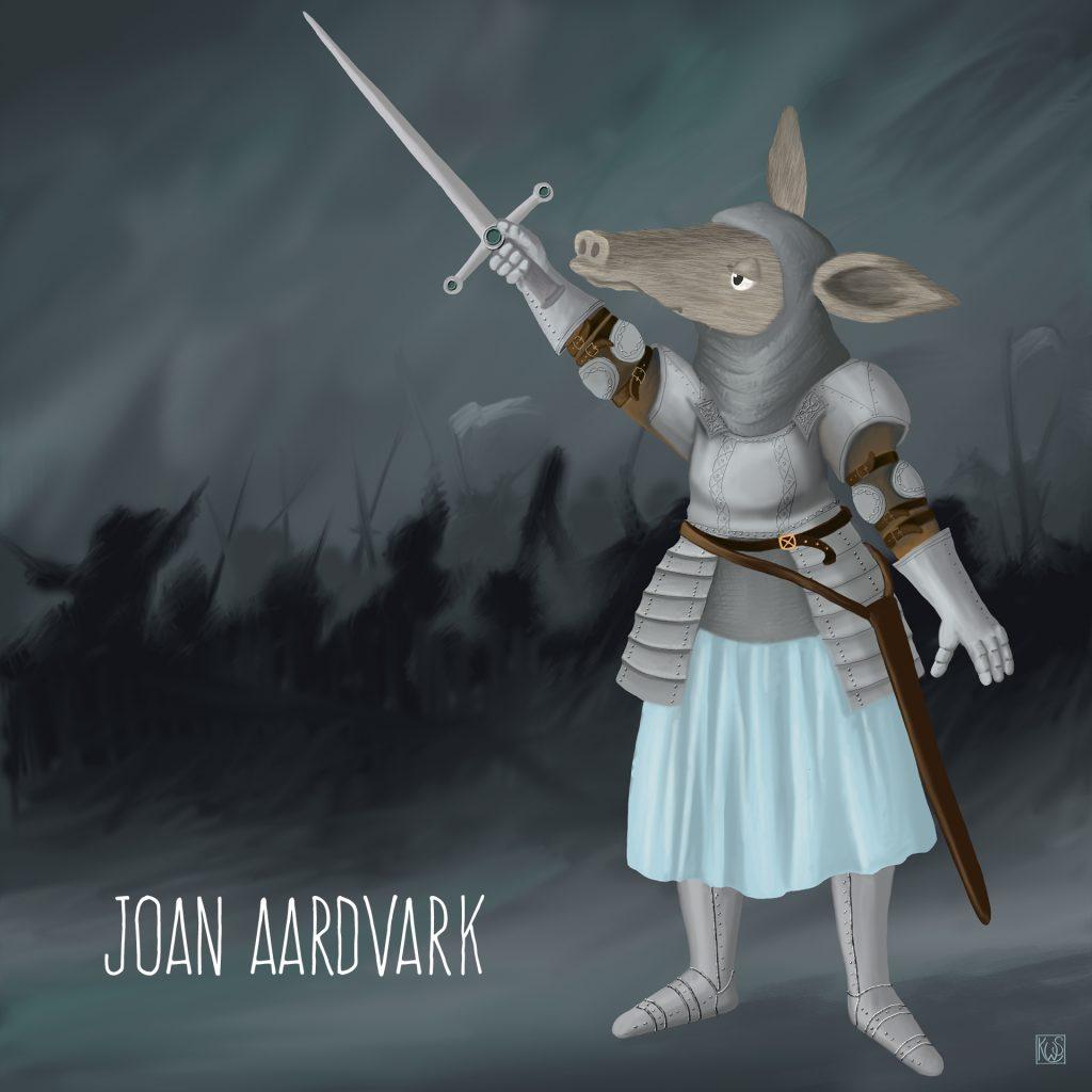 Joan Aardvark by Katie Stewart