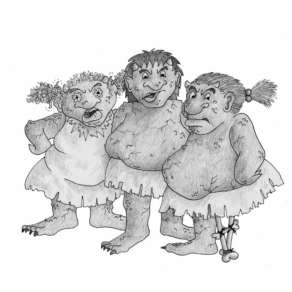 The Three Trolls by Katie Stewart