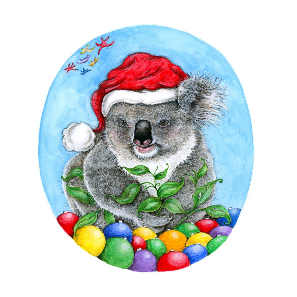 'Christmas Koala' by Katrina Fisher