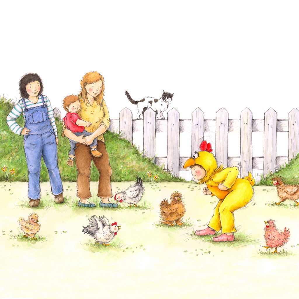 'Maeve and her chickens' by Katrina Fisher