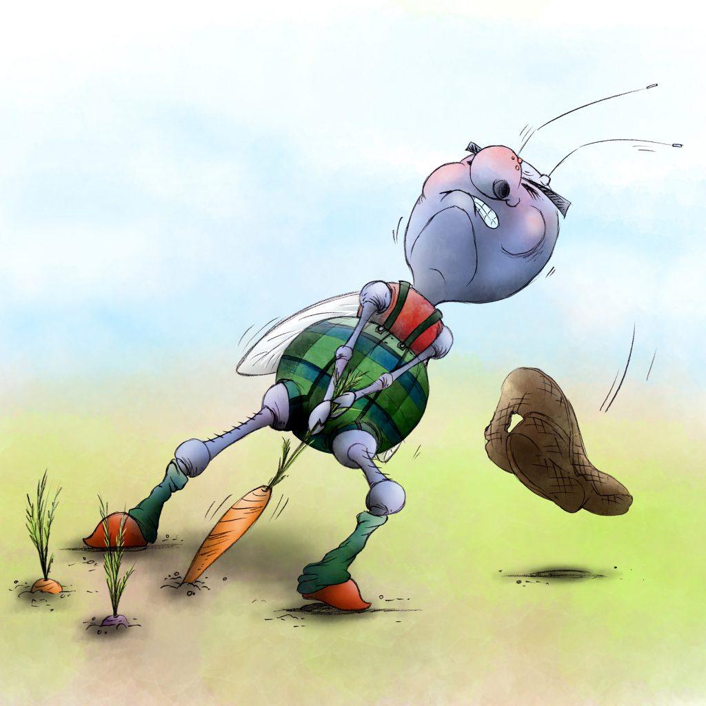 'Carrot Farmer' by Laura Mullinder