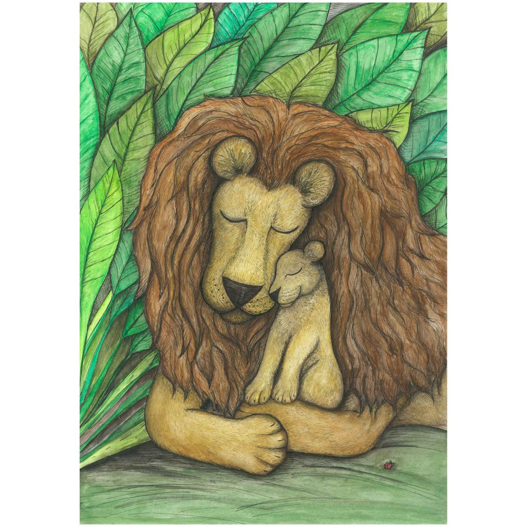 'The Lion & Cub' by Noelene Kizis