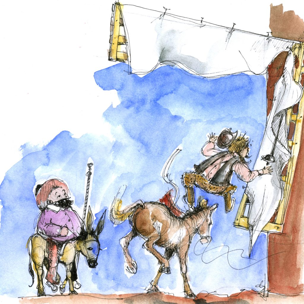 'Don Quixote sketchbook' by Lois Bury