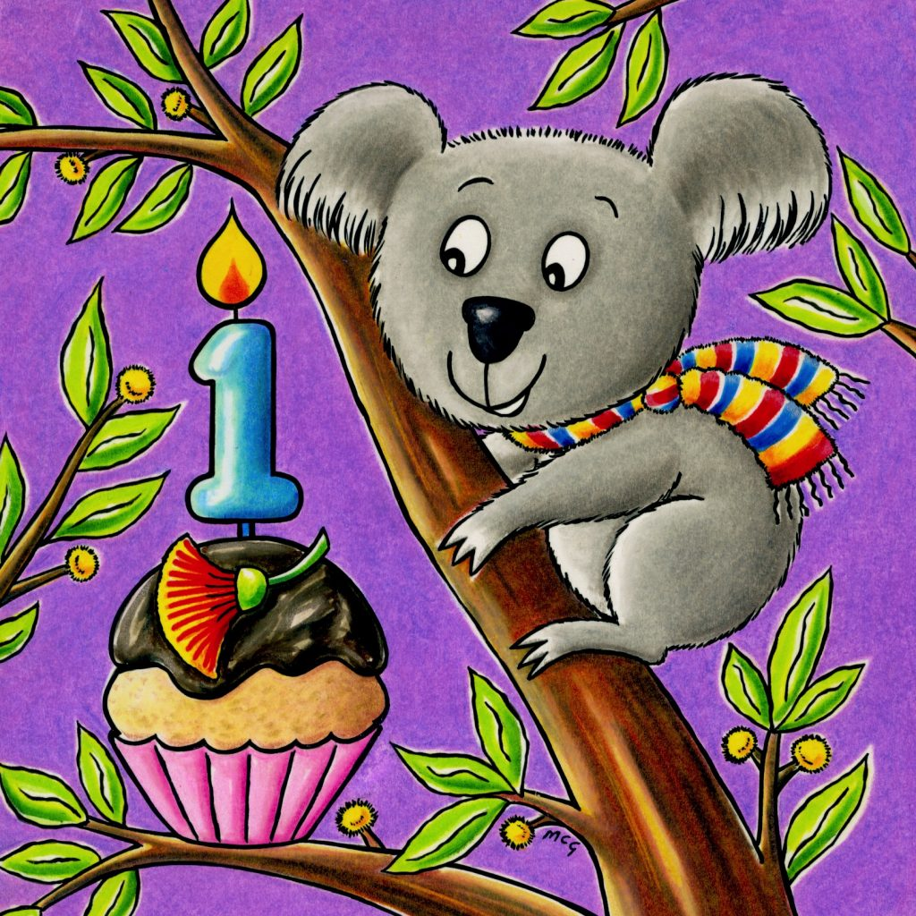 'Birthday koala' by Marjory Gardner