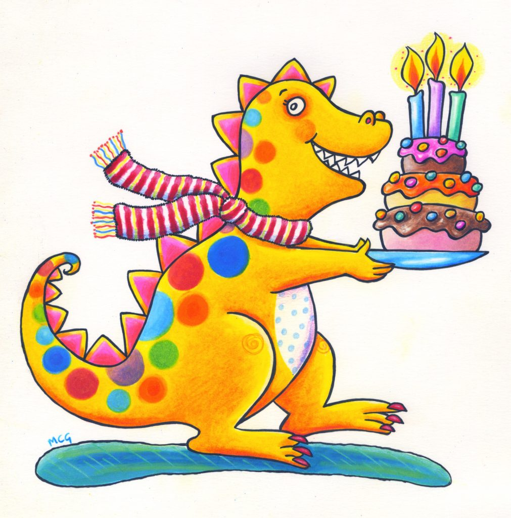 'Birthday dragon' by Marjory Gardner