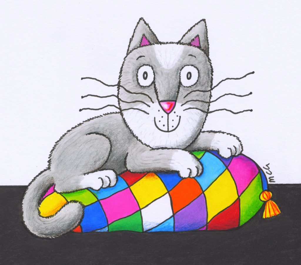 'Patchwork cat' by Marjory Gardner