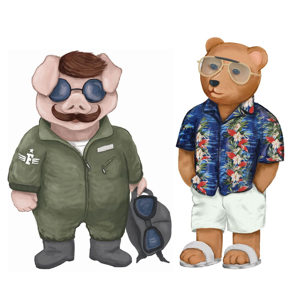 'Flying Pig and Vacation Bear' by Matthew Broughton