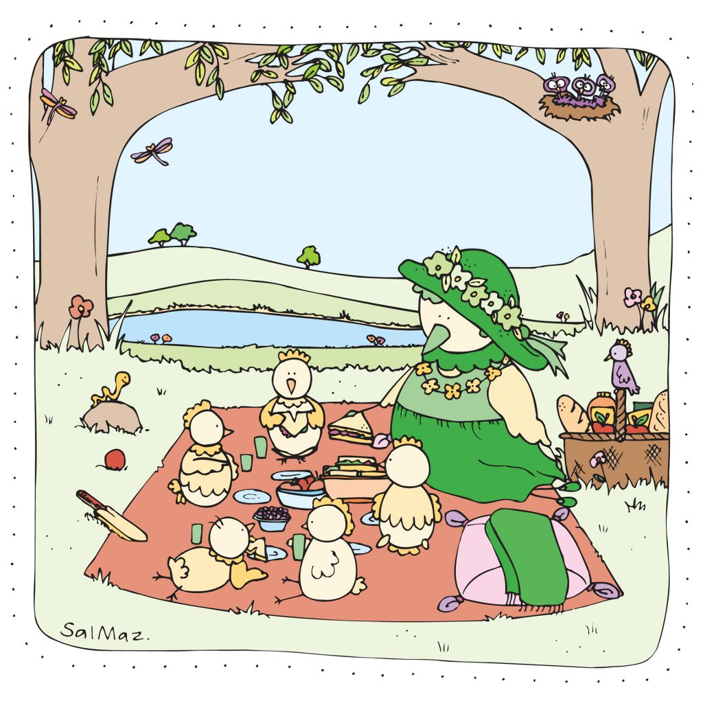 'Picnic on the Green' by Sally Mazak