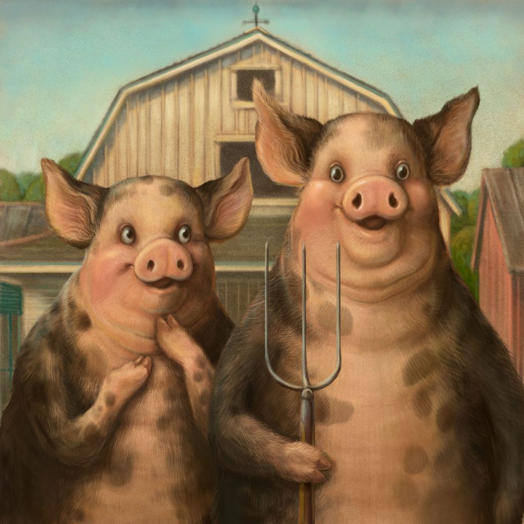 'Porcine Gothic' by Marjorie Crosby-Fairall