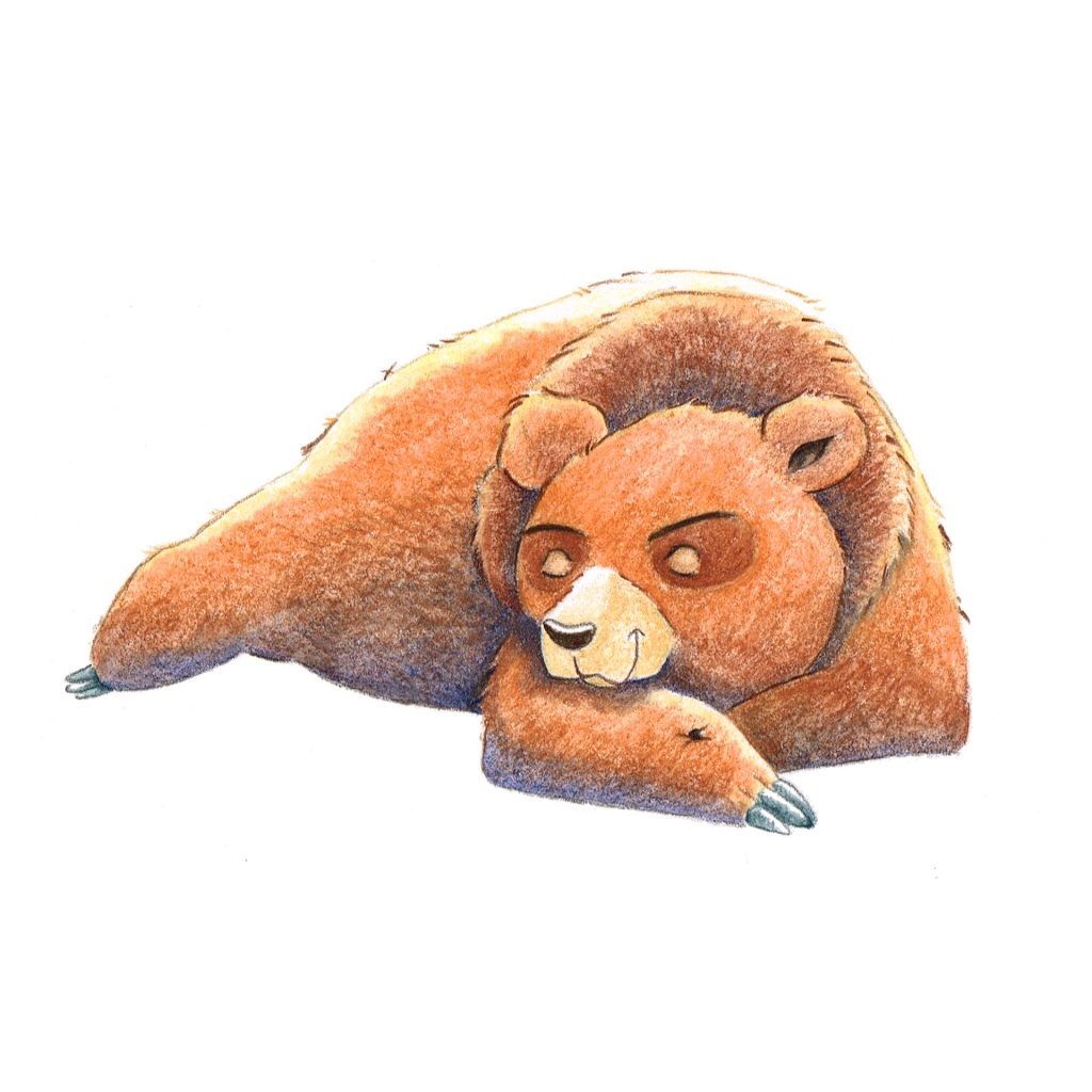 The Growly Bear - Snooze by Rebecca Timmis