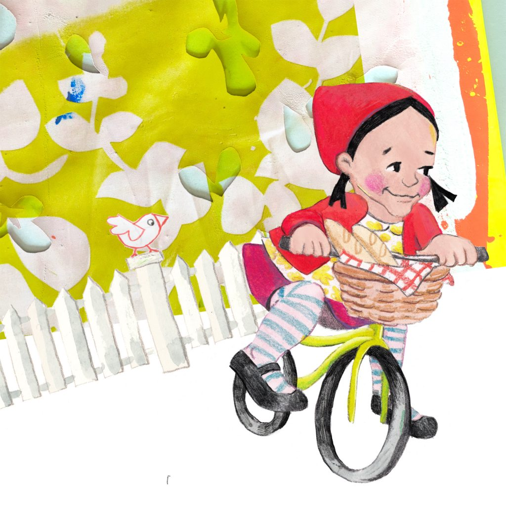'Little Red Riding Bike' by Ruth de Vos