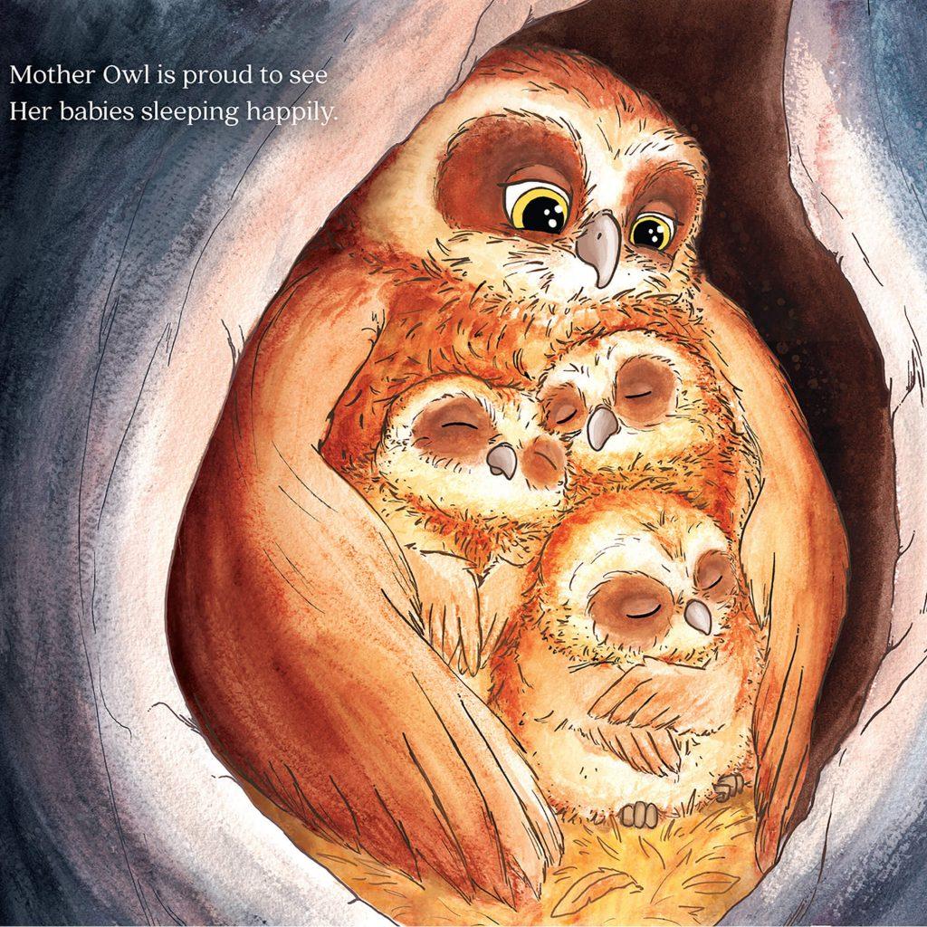 Moonlight Mums internal illustration by Laura Stitzel