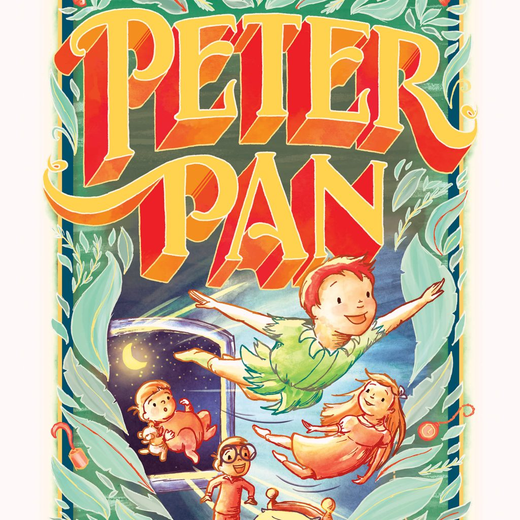 Peter Pan book cover by Laura Stitzel